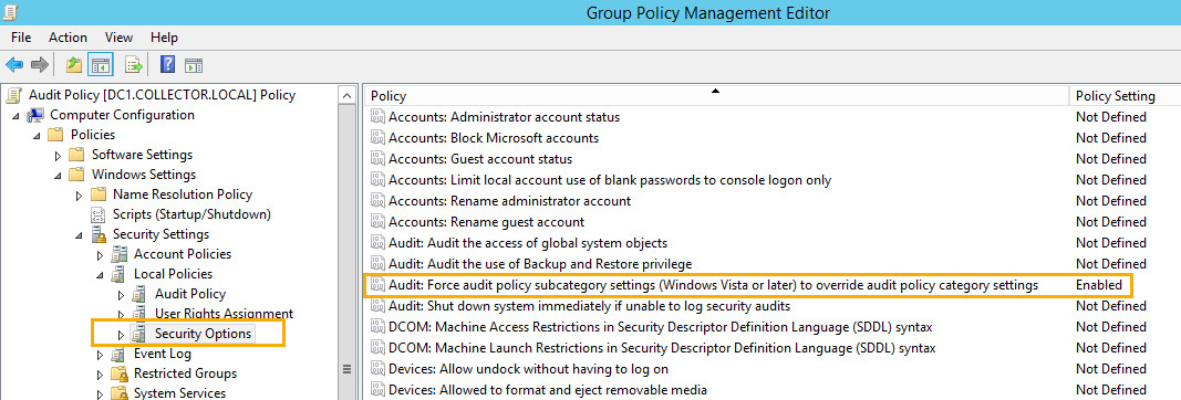 How to enable auditing in Windows